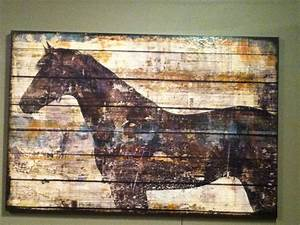 horse painting on old wood art pinterest horse With what kind of paint to use on kitchen cabinets for metal wall art horses
