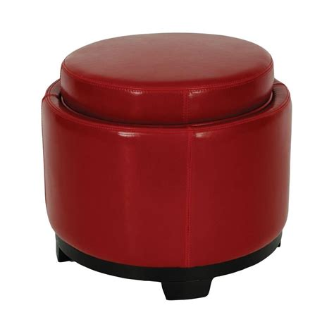 round storage ottoman with tray safavieh murray round storage tray ottoman hud4045a the