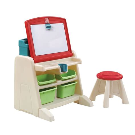 step 2 desk and stool step2 flip and doodle easel desk with stool 836500 the
