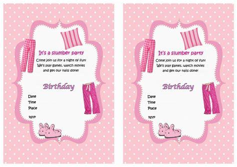 50 Beautiful Slumber Party Invitations Kitty Baby Love
