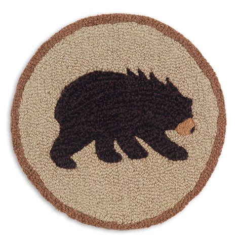 vermont bear hooked chair pad