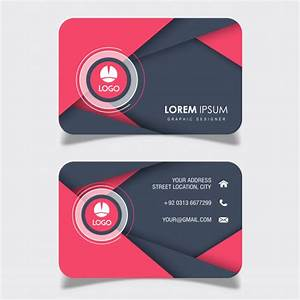 Abstract Visiting Card Designs Vector Free Download