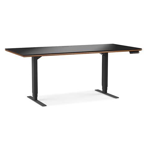 bdi sequel desk canada sequel executive walnut modern lift desk by bdi eurway