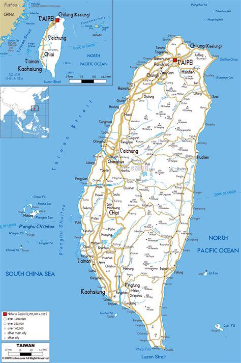 maps  taiwan detailed map  taiwan  english