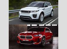 Photo Comparison BMW X2 Concept vs Range Rover Evoque