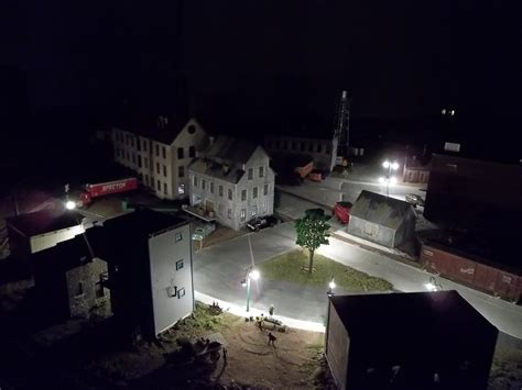 ho scale night scene  model railroader magazine
