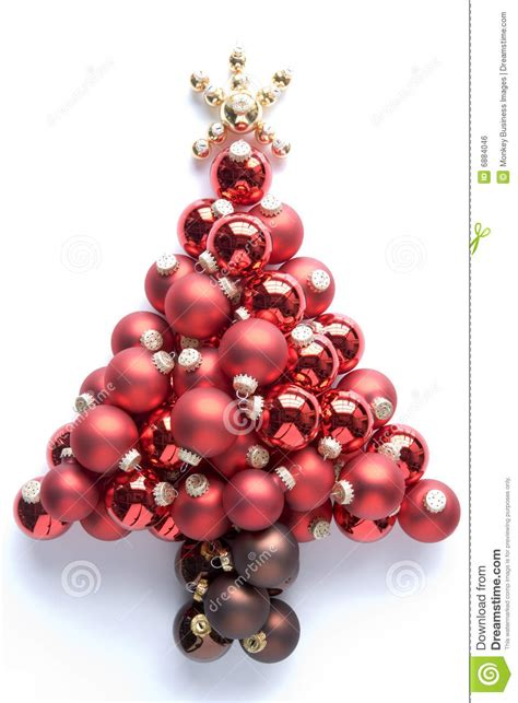 christmas tree made from baubles stock photo image 6884046