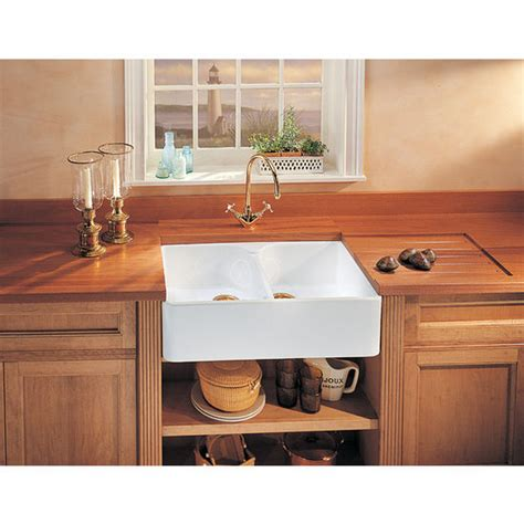 drop in apron front kitchen sink fireclay apron front undermount or drop on bowl 9619