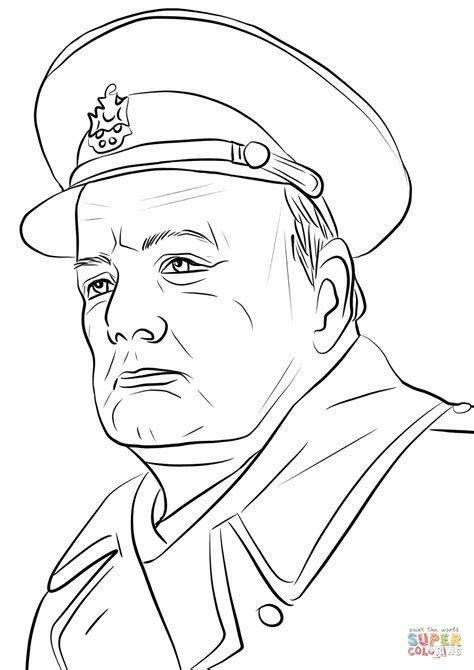 winston churchill coloring page  printable coloring