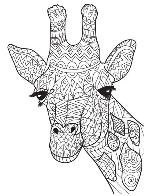 giraffe mandala coloring pages part   resource  teaching