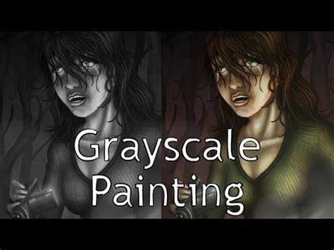 painting grayscale  color  photoshop youtube