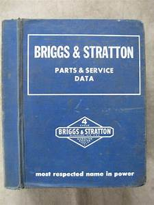 Briggs  U0026 Stratton Engine Parts Service Manual