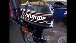 Motor Popa Evinrude 25 Ano 1989 - 1  2 - Revis U00e3o Rabeta