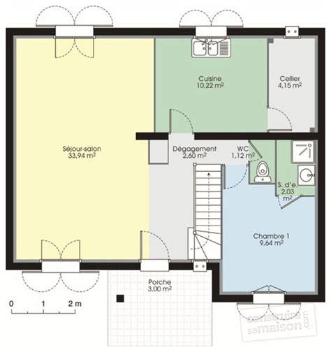 plan maison 1 chambre pavillon classique 1 dé du plan de pavillon