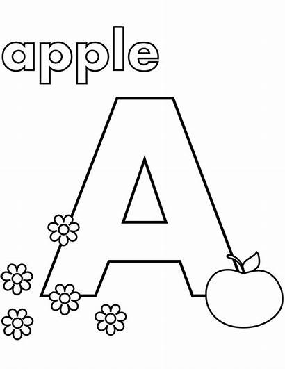 Coloring Pages Apple Printable Letter Alphabet Letters