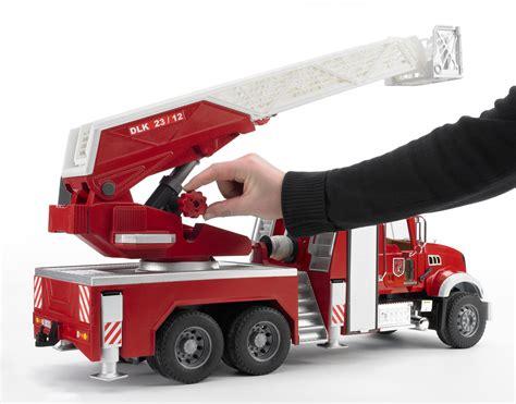 bruder fire truck amazon com bruder mack granite fire engine with water