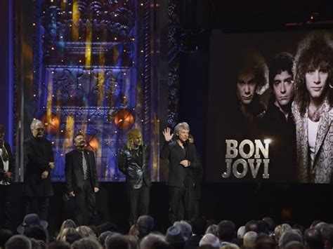 Bon Jovi Reunites Enter Rock Roll Hall Fame