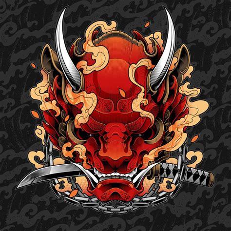 查看此 Behance 项目 Oni Mask Gallery79832303oni Mask Samurai Tattoo