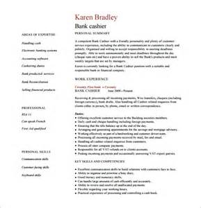 Bank Cashier Resume India by Cashier Resume Template 11 Free Word Excel Pdf Psd