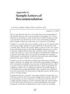 Free Sample Letter of Recommendation Template