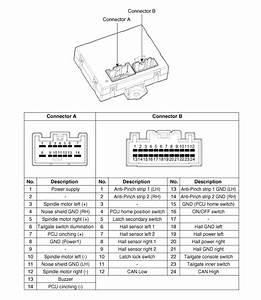 Kia Sorento  Power Tailgate Unit Circuit Diagram