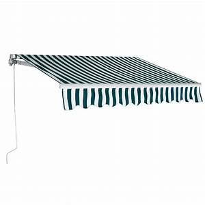 9 8 U0026 39 X8 2 U0026 39  Manual Patio Canopy Retractable Deck Awning