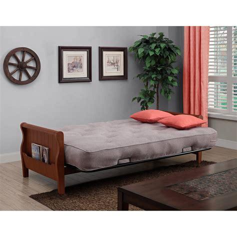 convertible sleeper wood arm futon sofa bed   coil