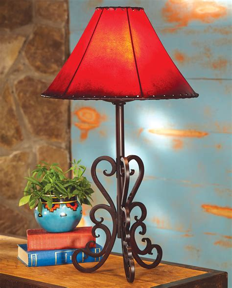 rustic table lamps tucson iron table lampblack forest decor
