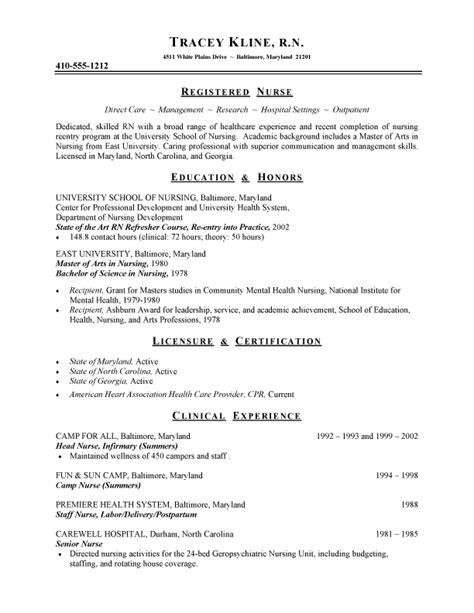 nursing program coordinator resume sle resume writing