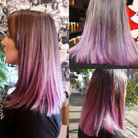 light pink highlights hair in the light brown hair category