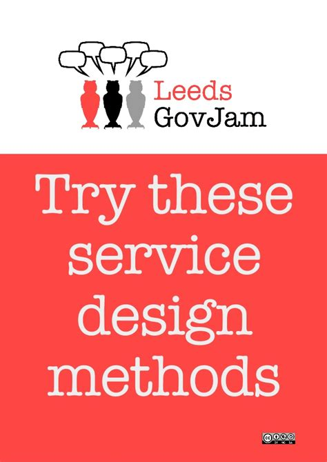 Govjam  Try These Service Design Methods