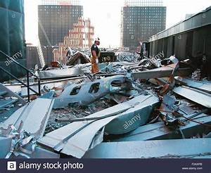 A portion of the fuselage of United Airlines Flight 175 on ...