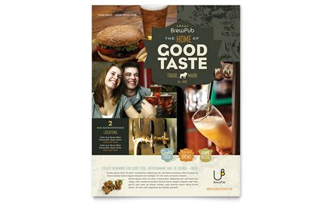 brewery brew pub flyer template word publisher