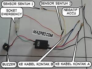 Pasang Pengaman Motor Sensor Sentuh Alsento Di Vario 125