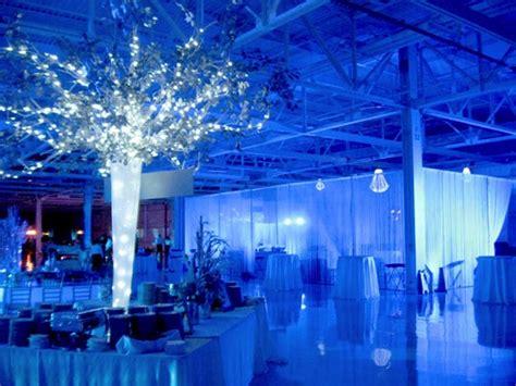 Blue Lighting at Winter Wonderland Event