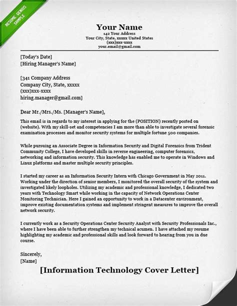 Information Technology (it) Cover Letter  Resume Genius. Resume Sales And Marketing Template. Powerpoint Menu Templates Free Template. Opnavinst 3120 32 C Template. Printable Gift Certificate Paper Template. Resume Sample For Office Assistant Template. Letter To Editor Example. Thank You Letter After Phone Interview Email Template. Condolence Messages For A Close Friend