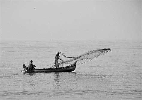 Fishing Boat Net by Cast Net