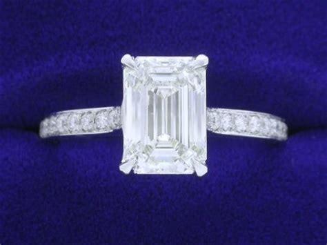 emerald cut diamond ring  carat   ratio   tcw pave mounting diamond source