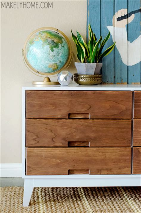 century modern dresser diy how to make a midcentury modern inspired two tone dresser Mid