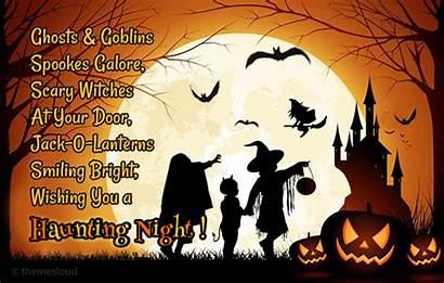 Halloween Night Horror Haunting Wishing Cards Card
