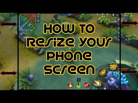 screen resizer mobile legend how to resize your phone screen mobile legends screen