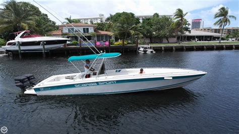 Used Scarab Sport Boats For Sale by 1994 Used Scarab 30 Sport Center Console Fishing Boat For