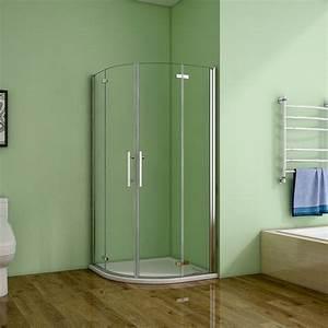 Viertelkreis Duschkabine 80x80 : 80x80 90x90x195cm viertelkreis runddusche duschkabine ~ Watch28wear.com Haus und Dekorationen