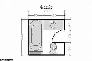 Plan Petite Salle De Bain : 16 plans de salle de bains de moins de 5 m2 ~ Melissatoandfro.com Idées de Décoration