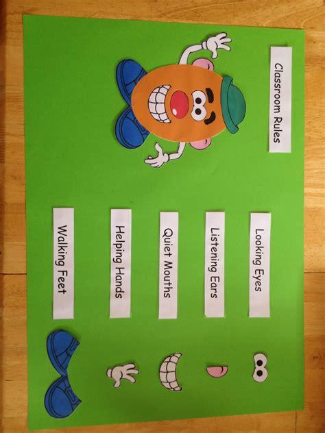 classroom rules  potato head   add  caring