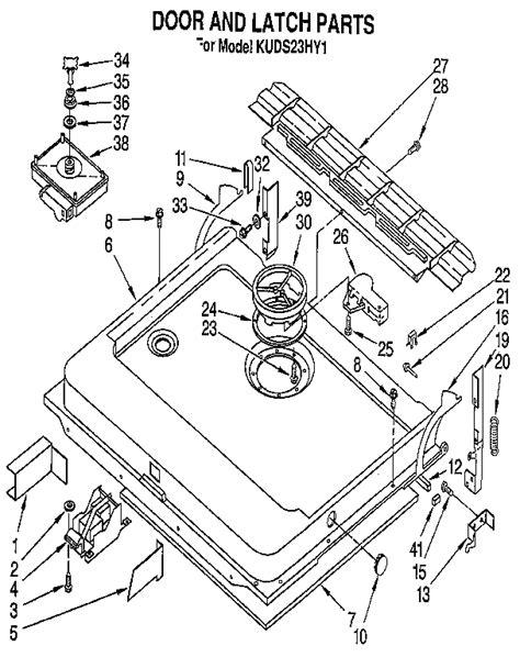 Kitchenaid Dishwasher Parts by Kitchenaid Dishwasher Panel Parts Model