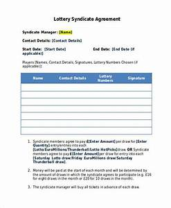 lottery syndicate agreement template word 28 images 5 With lottery syndicate agreement template word
