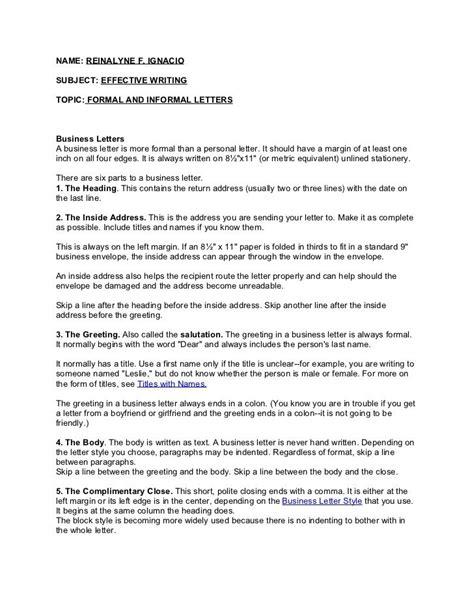 formal  informal letter  formal letter pinterest