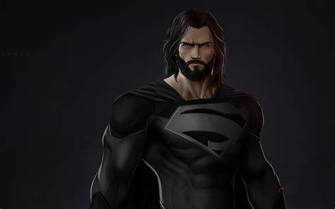 3840x2400 Black Superman Suit Beard 4k HD 4k Wallpapers ...