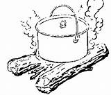 Dutch Oven Cooking Pot Campfire Recipes Coloring Bread Baking 2007 February Prepper Wheat Sketch Ovens Fun Template Eating sketch template